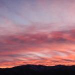 Montana Winter Sunset and Full Moon