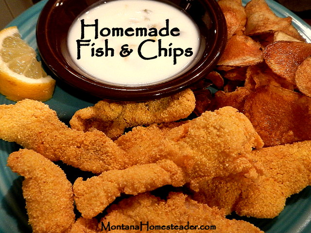Homemade Fish and Chips Recipe from Montana Homesteader