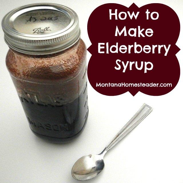how to make homemade medicinal elderberry syrup |  Montana Homesteader