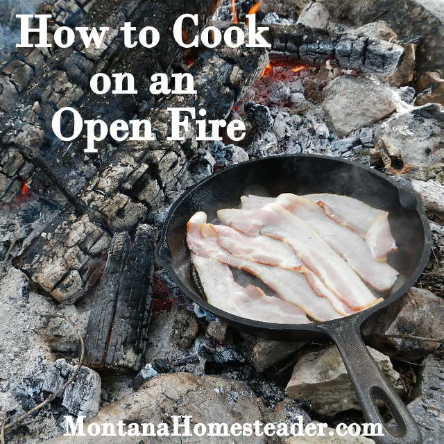 How to cook with cast iron on an open fire