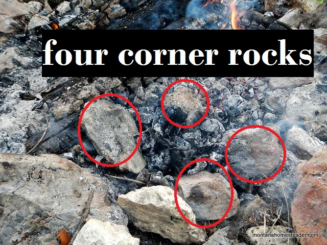 How to cook outside on an open campfire with cast iron skillet pan
