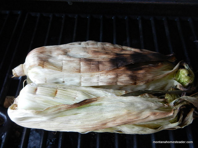 Recipe for grilled corn on the cob