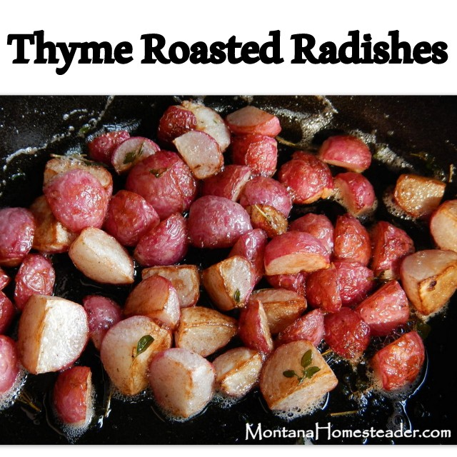 How to make Thyme Roasted Radishes
