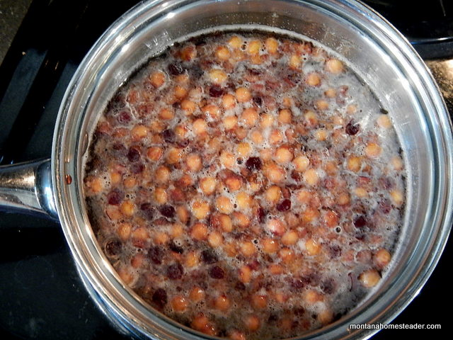 Making stone fruit cherry pit syrup Montana Homesteader