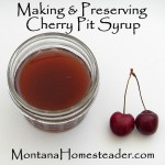 Making and Preserving Cherry Pit Syrup