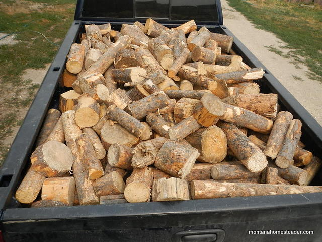 Preparing for winter on the homestead and finding free fire wood on craigslist Montana Homesteader