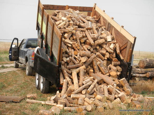How to find firewood for cheap or free to save money heating your house with wood Montana Homesteader