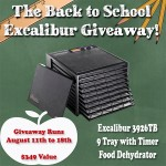 9 Tray Excalibur Dehydrator Giveaway
