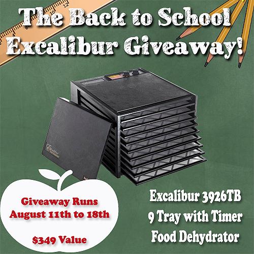 9 Tray Excalibur Dehydrator Giveaway Montana Homesteader