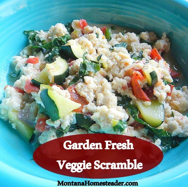 How to make a garden fresh vegetable egg scramble