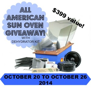 All American Sun Oven Giveaway to help you bake and cook off grid! | Montana Homesteader