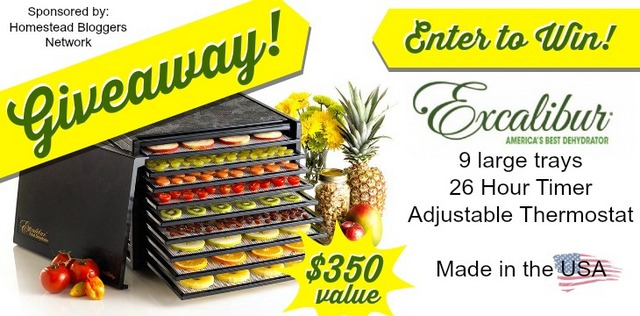 9 Tray Excalibur Dehydrator with Timer Giveaway $350 value | Montana Homesteader