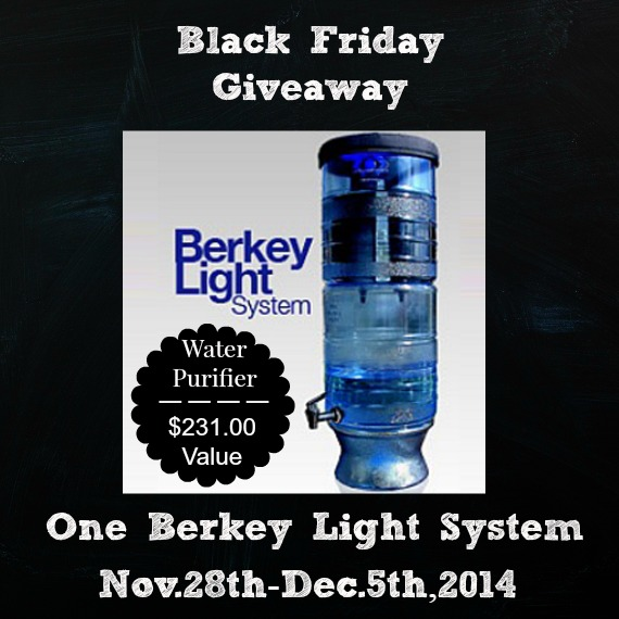 Berkey Light Water Purifier giveaway | Montana Homesteader