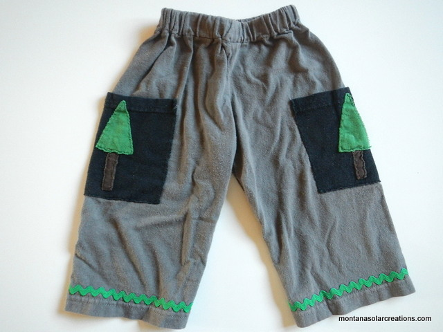how to make a pair of upcycled baby and toddler pants | Montana Homesteader
