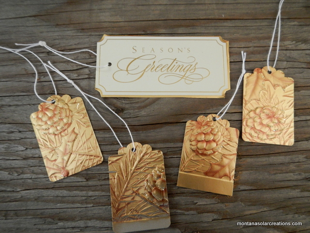 how to repurpose old greeting cards into new holiday gift tags | Montana Homesteader