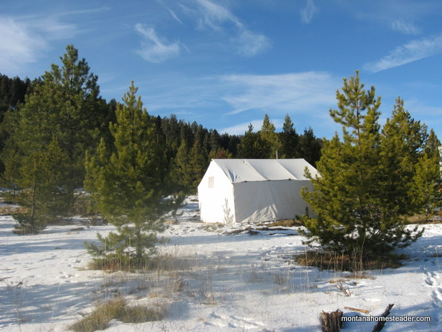 outdoor cooking off grid Thanksgiving dinner at hunting camp in a wall tent in the mountains of Montana | Montana Homesteader