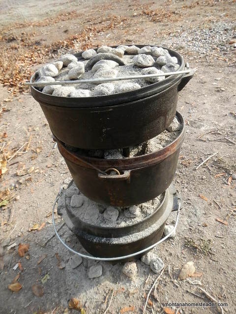 outdoor cooking with cast iron dutch ovens