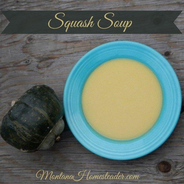 Recipe for squash soup using winter squash |  Montana Homesteader