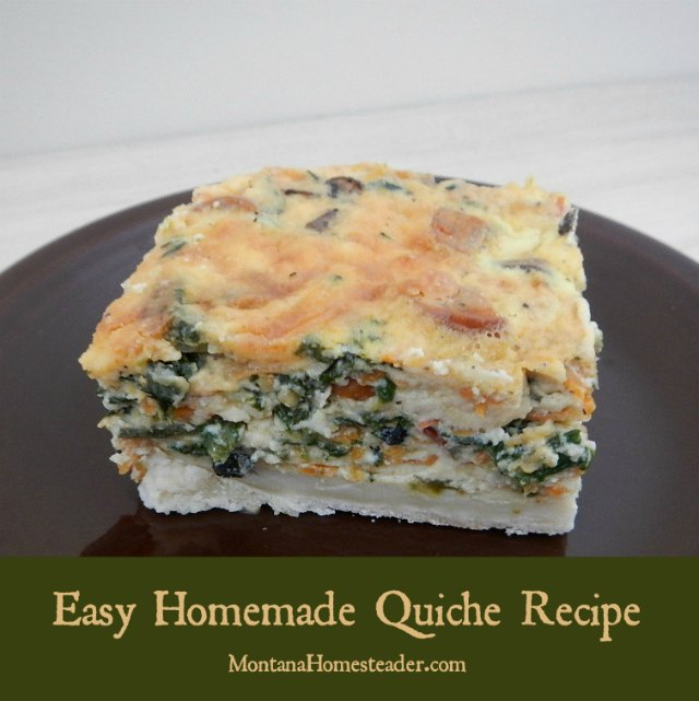 Quiche recipe:  easy, homemade and delicious quiche! |  Montana Homesteader