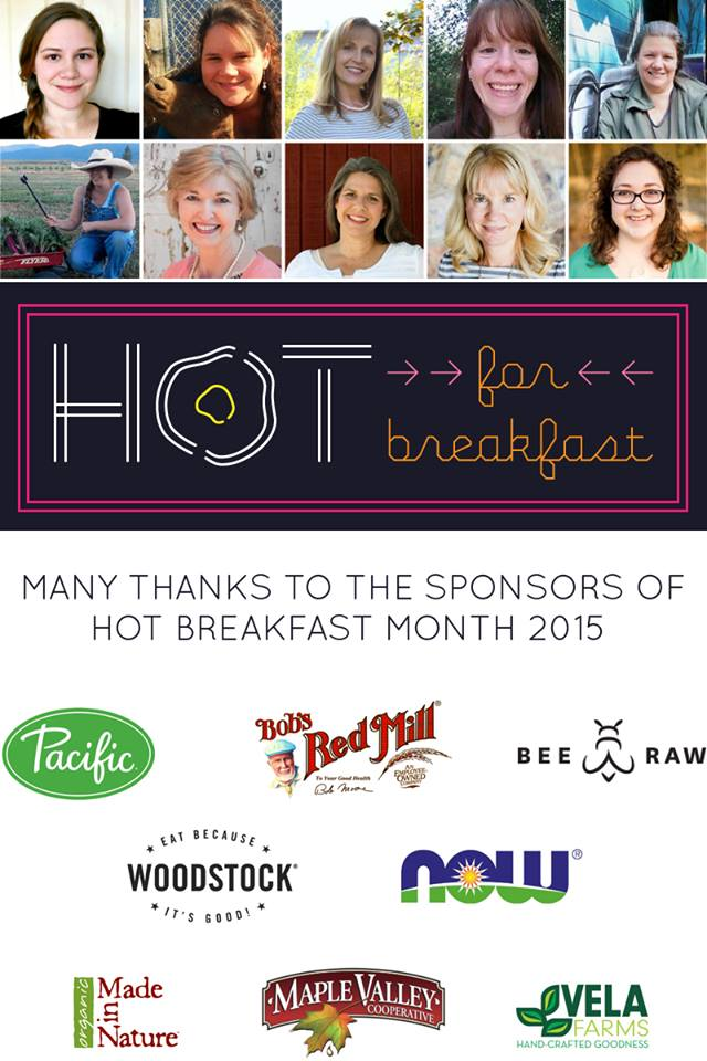 #hotforbreakfast February hot breakfast month food blogger project Montana Homesteader