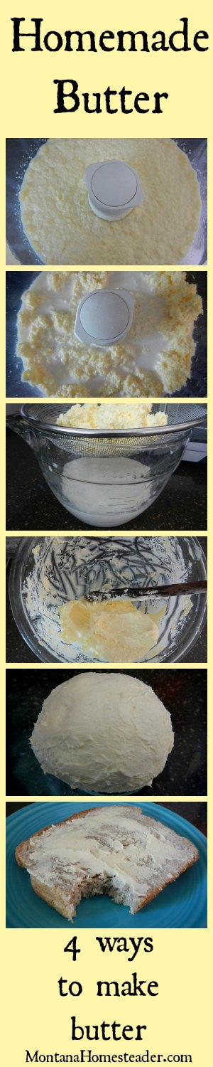 4 ways to make homemade butter plus learn what NOT to do by reading how I failed 3 times before succeeding! |  Montana Homesteader