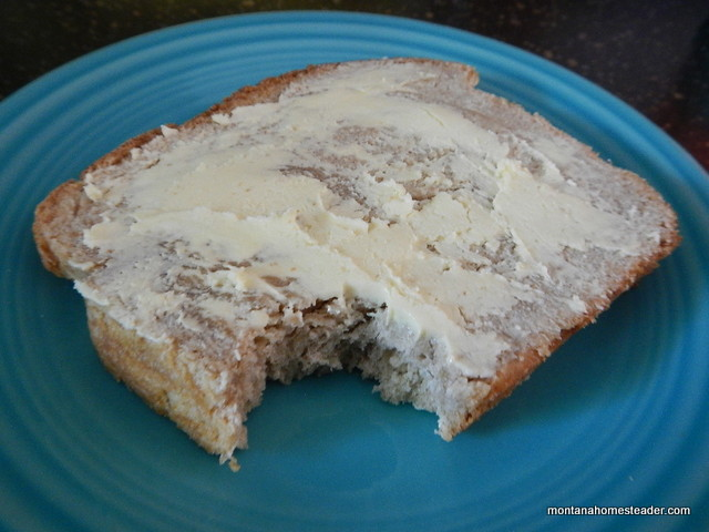 Making homemade butter with fresh raw cream | Montana Homesteader