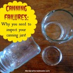 Canning Failures: Why you need to inspect your canning jars