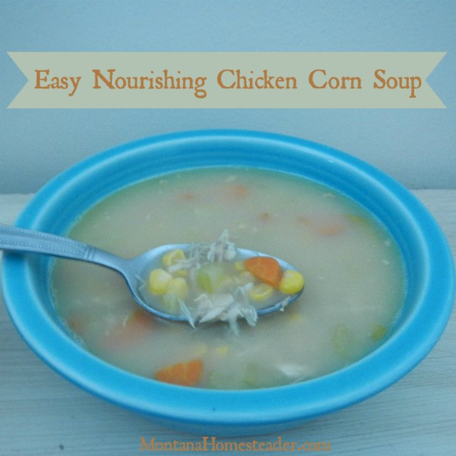 Easy Nourishing Chicken Corn Soup Recipe | Montana Homesteader