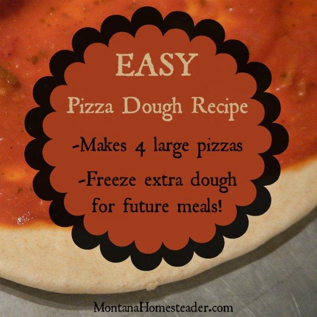 pizza dough recipe to make freeze