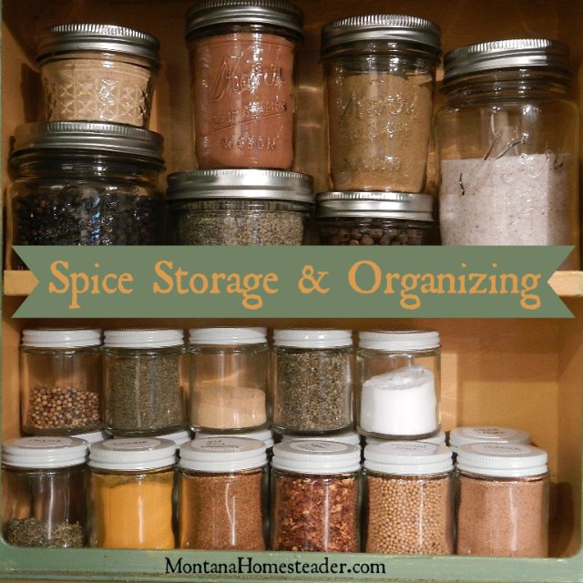 Spice storage and organizing a spice cupboard | Montana Homesteader