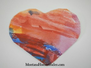 How to make DIY Valentine Cards simple easy quick watercolor hearts | Montana Homesteader