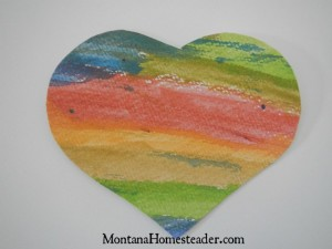 How to make DIY Valentine cards out of watercolor hearts | Montana Homesteader