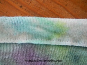 How to make a girls upcycled t-skirt tshirt skirt | Montana Homesteader
