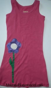 How to make an upcycled dress out of a tank top | Montana Homesteader