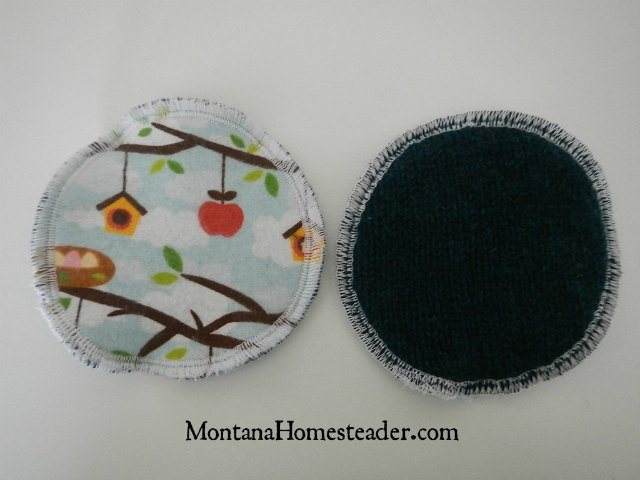 How to make washable wool or fleece backed nursing breast pads | Montana Homesteader