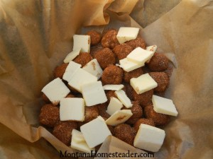 How to make monkey balls bread in the dutch oven outdoors   Montana Homesteadedr