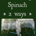 Preserving Spinach 2 ways
