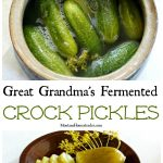How to make fermented sour dill crock pickles