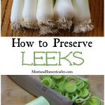 How to preserve and freeze leeks