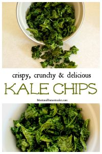 A bowl of crispy crunchy and delicious kale chips Montana Homesteader blog