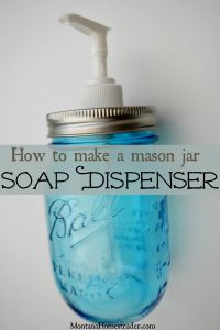 DIY mason canning jar soap lotion dispenser