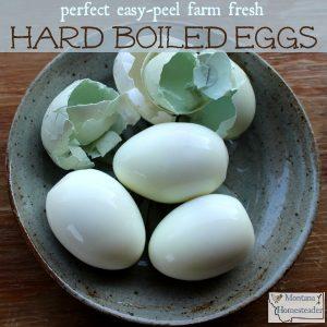 Tips to make easy peel hard boiled steamed farm fresh eggs