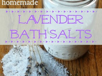 jar of natural homemade lavender bath salts Montana Homesteader
