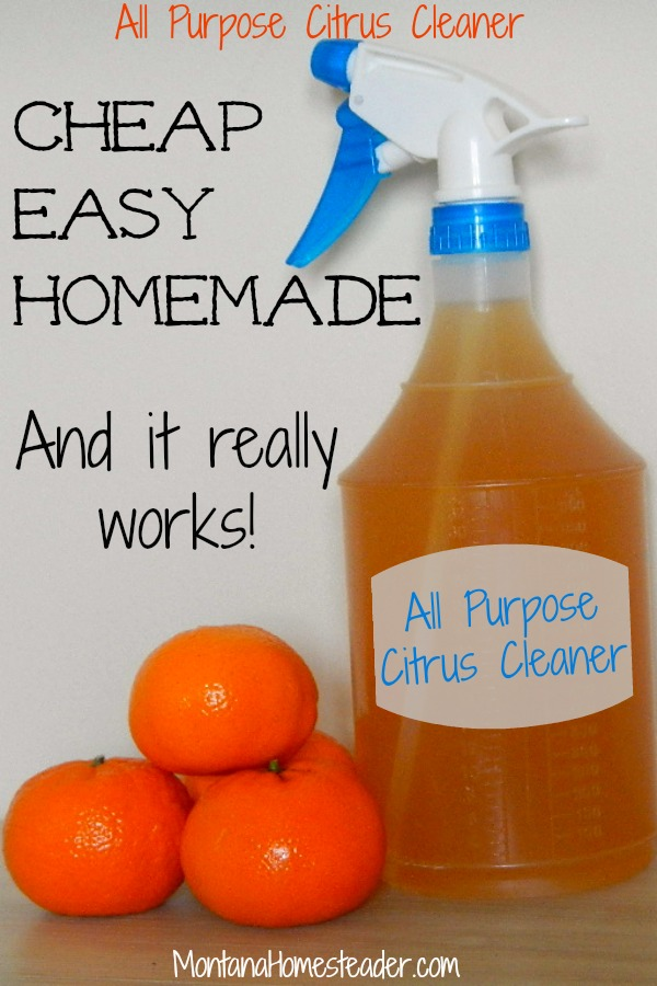 Homemade all purpose citrus cleaner is a cheap and easy DIY project